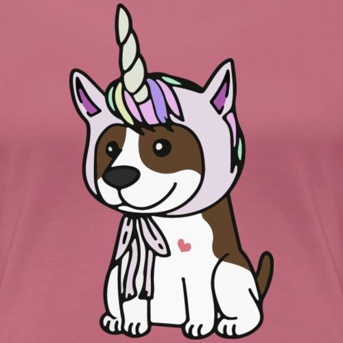 unicorn-American staffordshire terrier - Premium-T-shirt dam