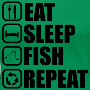 Eat sleep fish - Angeln, Fischer - Frauen Premium T-Shirt