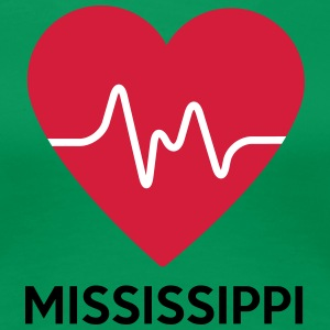 heart Mississippi - Women's Premium T-Shirt