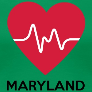 heart Maryland - Dame premium T-shirt