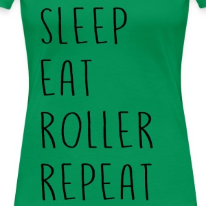 sleep_eat - Women's Premium T-Shirt