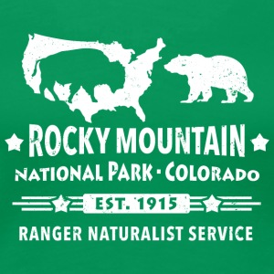 Bison Grizzly Rocky Mountain National Park Mountains - Women's Premium T-Shirt