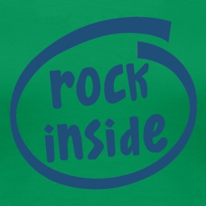 rock inside (1837C) - Women's Premium T-Shirt