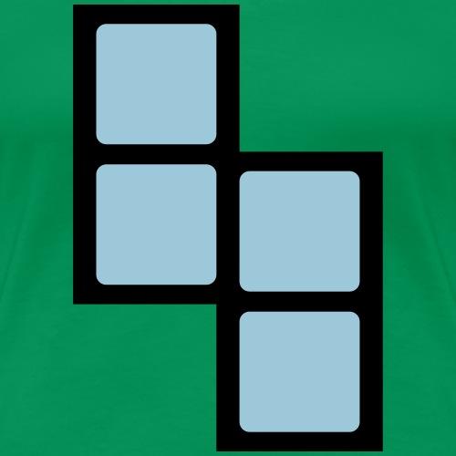 Baustein Block des Computerspieleklassiker - Frauen Premium T-Shirt