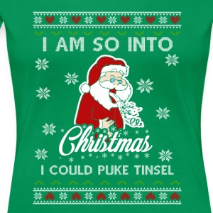 Funny Anti Christmas - Puke Tinsel - Premium T-skjorte for kvinner