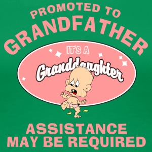 Promoted To Grandfather Granddaughter - Women's Premium T-Shirt