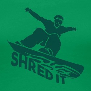 SHRED IT - Boarder Strøm - Premium T-skjorte for kvinner