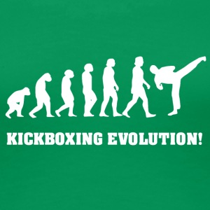 Kickboxing Evolution, gift for Kickboxer - Women's Premium T-Shirt