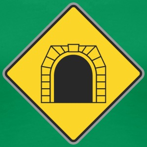 Road Sign treintunnel - Vrouwen Premium T-shirt