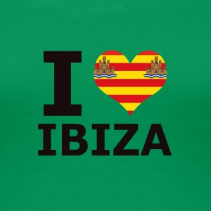 I LOVE ibiza flag - Frauen Premium T-Shirt