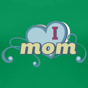 i love mom 2 - Vrouwen Premium T-shirt