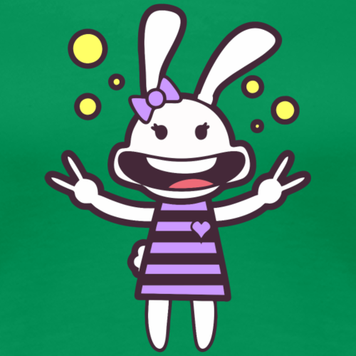 Groovy Rabbit - Women's Premium T-Shirt