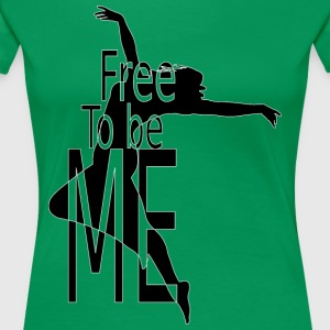 FREE_TO_BE - Dame premium T-shirt