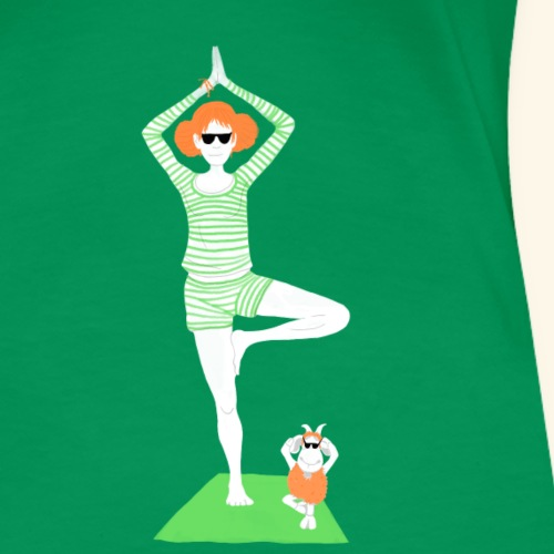 Yoga: im Leben stehen mit Schaf - Frauen Premium T-Shirt