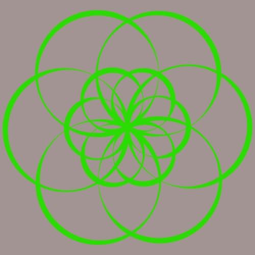 Fleur de vie verte - Chakra du coeur - T-shirt Premium Femme