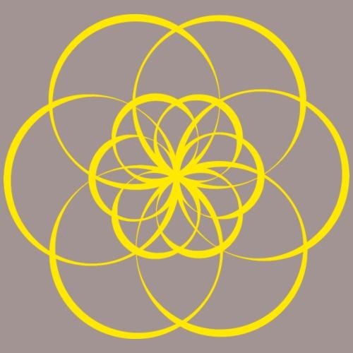 Fleur de vie jaune - Chakra plexus solaire - T-shirt Premium Femme