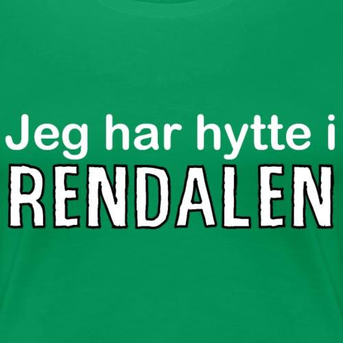 jeg har hytte i Rendalen - Premium T-skjorte for kvinner