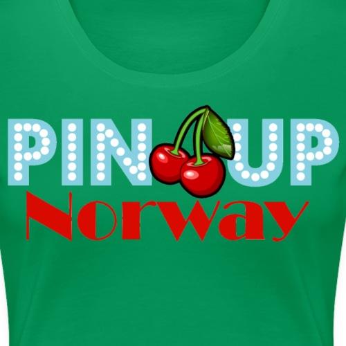 Pinup Norway Fan Club - Premium T-skjorte for kvinner