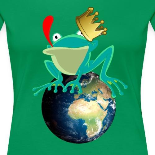 Froschkönig König der Welt Frosch - Frauen Premium T-Shirt