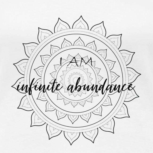 I am infinite abundance black mandala