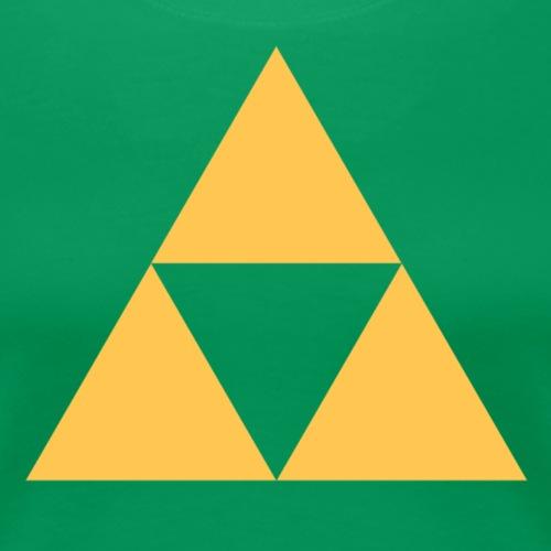 Triangle design - Dame premium T-shirt
