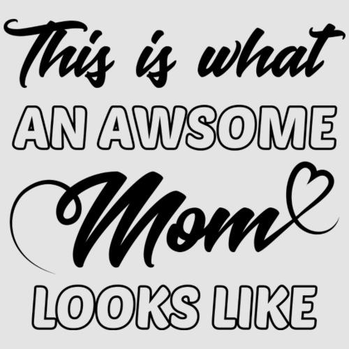Awsome mom- Tryckfärg: Sotsvart - Premium-T-shirt dam