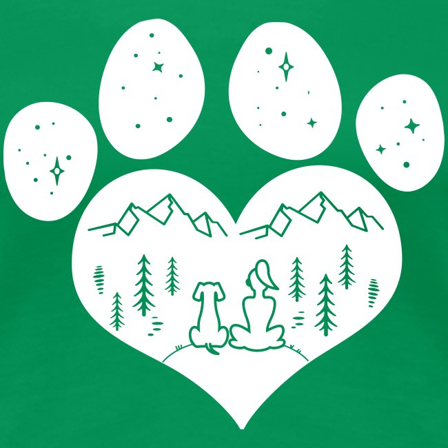 Vorschau: dog girl outdoor pawheart - Frauen Premium T-Shirt