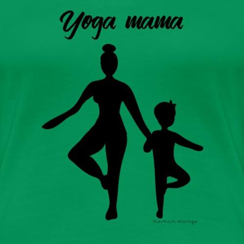 Yoga mama - T-shirt Premium Femme