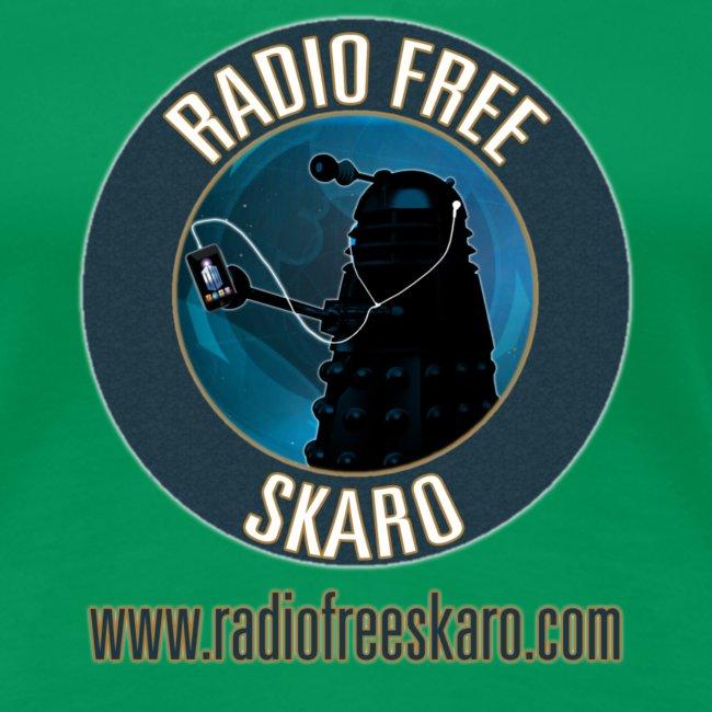 Skaro Shop Radio Free Skaro Logo 2011 Navy Png Womens Premium T Shirt