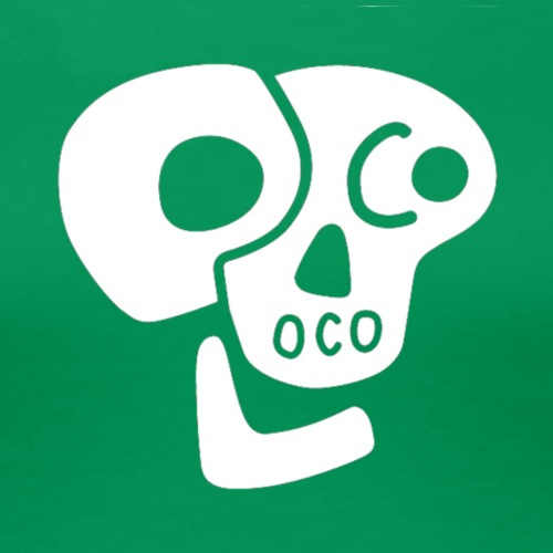 Poco Loco skull logo white - Women's Premium T-Shirt