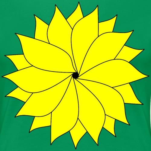 flower bright yellow - Women's Premium T-Shirt