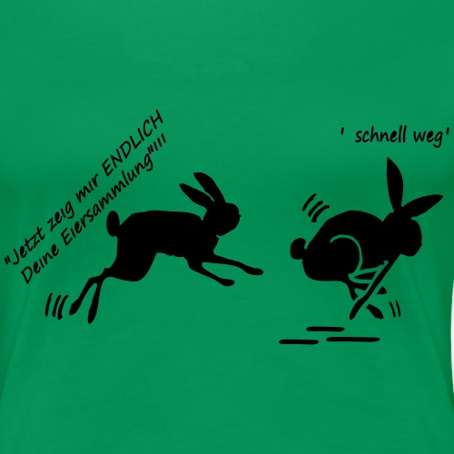 Hasenfrau jagt Hasenmann - Frauen Premium T-Shirt