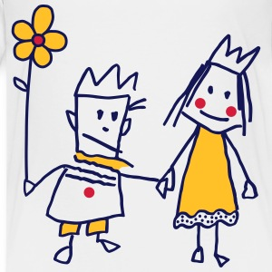 Stick Figure Queen Princess Kingqueen par - Premium T-skjorte for barn