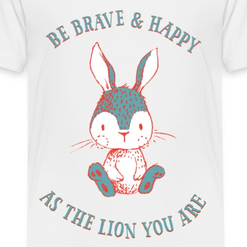 Brave rabbit - Premium-T-shirt barn