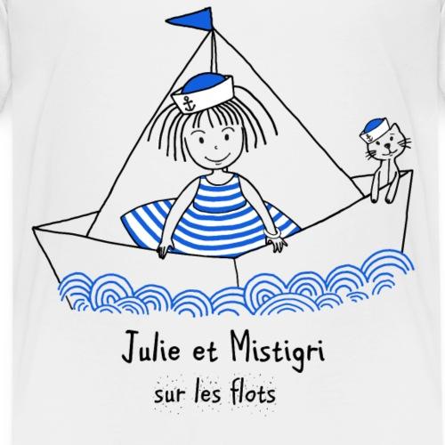 Julie et Mistigri sur les flots - T-shirt Premium Enfant