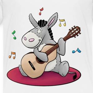 Esel macht Musik - Kuschelesel mit Gitarre - Kinder Premium T-Shirt