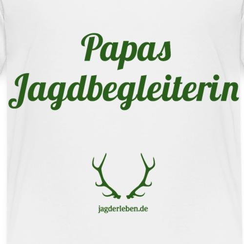 Papas Jagdbegleiterin gruen - Kinder Premium T-Shirt