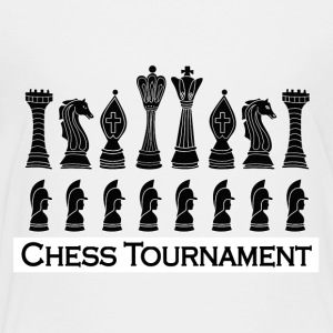 Chess black chess pieces - Kids' Premium T-Shirt