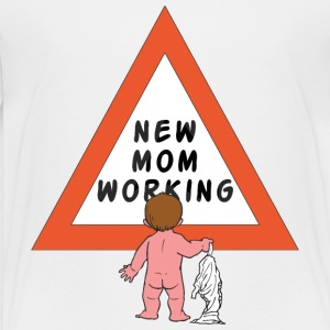 New Mom Changing Diapers - Kids' Premium T-Shirt