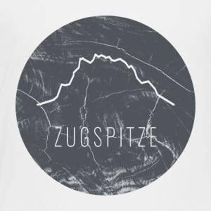 Zugspitze contour on wooden plate - Kids' Premium T-Shirt