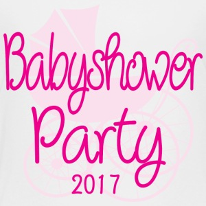 Baby Shower Party 2017 Rose - Kinder Premium T-Shirt