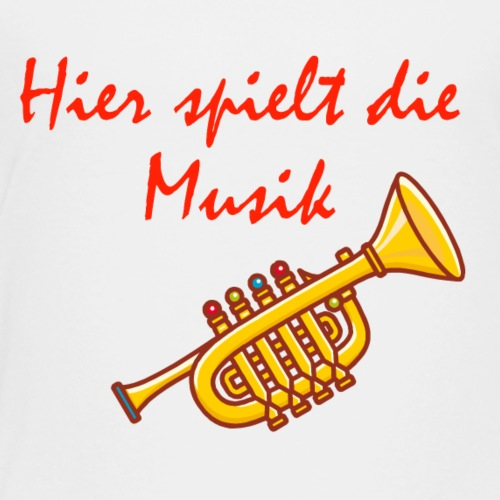 Hier spielt die Musik - Design for Kids - Kinder Premium T-Shirt