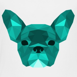 Low Poly Frenchie cyaan - Kinderen Premium T-shirt