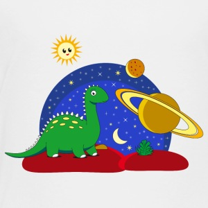 Dinosaur Space Space Saturn maan Planet - Kinderen Premium T-shirt