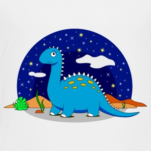 Dinosaur Brontosaurus star night dream - Kids' Premium T-Shirt