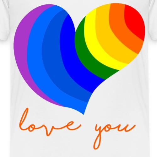 Love You Heart - Kinder Premium T-Shirt