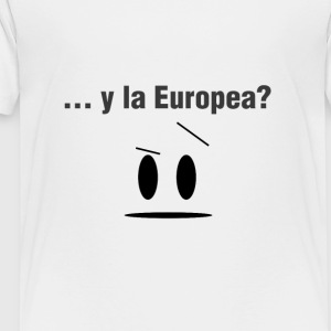 Y la europea versión simple. - Camiseta premium niño
