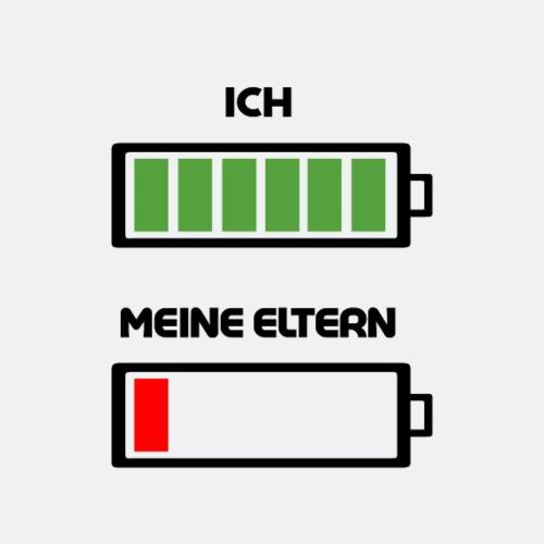 ICH & MEINE ELTERN - Batterie Energie Status - Kinder Premium T-Shirt