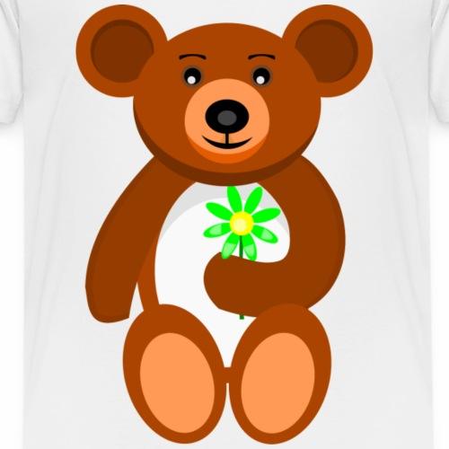 Teddy mit Blume - Kinder Premium T-Shirt