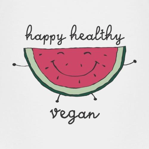 happy healthy vegan watermelon - Kinder Premium T-Shirt